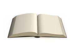 Buch, das Draufsicht im weißen Hintergrund öffnet Lizenzfreie Stockfotos