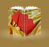 Buch der Hochzeitseinladungskarte Lizenzfreies Stockbild