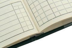 Buch des alten Kursteilnehmers Lizenzfreies Stockbild