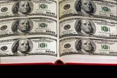 Buch des Geldes Stockbild