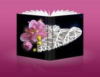 Buch des Herzens für Feiertage Lizenzfreie Stockfotografie