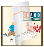 Buch für Weltfußball-Tag lizenzfreies stockfoto