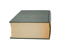 Buch im Grün des festen Einbands Lizenzfreie Stockbilder