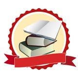 Buch im runden Rahmen stock abbildung