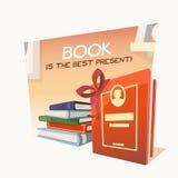 Buch ist das beste Geschenk Stockbild