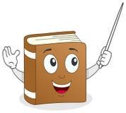 Buch-Lehrer Character mit Zeiger Lizenzfreie Stockfotografie
