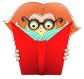 Buch-Mädchen stock abbildung
