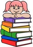 Buch-Mädchen Lizenzfreies Stockbild