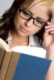 Buch-Mädchen stockfotos