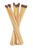 Buch of matchsticks. On white background Stock Photo