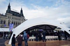 Buch-Messe auf Rotem Platz in Moskau Stockfotografie