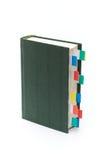Buch mit Bookmarks Stockbild