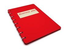 Buch mit dem BeschreibungUnternehmensplan Lizenzfreies Stockfoto