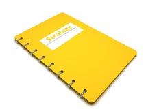 Buch mit der Beschreibungstrategie Lizenzfreies Stockbild