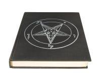 Buch mit Pentagram Stockfoto