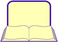 Buch mit Rahmen und Platz für Text Lizenzfreies Stockbild