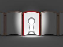 Buch mit Schlüsselloch Stockfotos