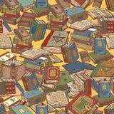 Buch-nahtloses Muster Lizenzfreies Stockfoto