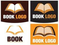 Buch-oder Buchhandlungs-Logo Stockfoto