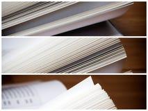 Buch paginiert Nahaufnahme Lizenzfreie Stockbilder