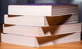 Buch paginiert Nahaufnahme Stockfotografie
