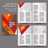 Buch A4 Plan-Design-Schablone Stockbild