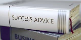 Buch-Rückentitel - Erfolgs-Rat 3d Lizenzfreies Stockfoto