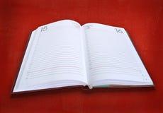 Buch-Tagebuch Stockfoto