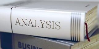 Buch-Titel der Analyse 3d Stockbild