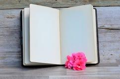 Buch und Blume Lizenzfreie Stockfotos