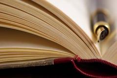 Buch und Feder Lizenzfreies Stockbild