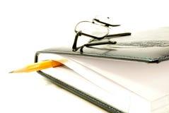 Buch und Gläser Lizenzfreies Stockbild