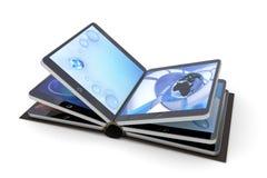 Buch vom Tablette PC Stockbild