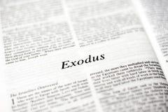 Buch von Exodus Stockfotografie