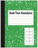 Buch-Zeit-Anwesenheit lizenzfreie abbildung