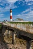 Buchan Ness Bridge et phare Ecosse R-U Images libres de droits