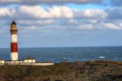 Buchan Ness Lighthouse, Boddam, Aberdeenshire, Scotland, UK. royalty free stock photo