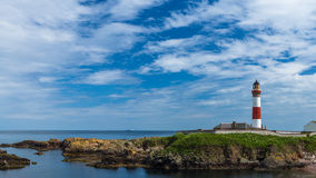 Buchan Ness lighthouse at Boddam Royalty Free Stock Photo