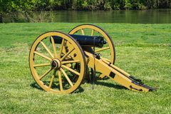 Yankee Canon. Buchanan, VA - April 28th; Yankee canon at the annual Buchanan Civil War History Weekend on April 28th, 2018, Buchanan, Virginia, USA royalty free stock photography