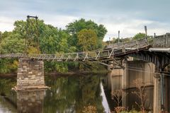Free Buchanan Virginia Swinging Bridge Royalty Free Stock Photos - 102510388