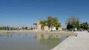Buchara, l'Uzbekistan - 20 settembre 2015: Annuncio-baccano complesso di Baha l'insieme di culto di cui è in un quartiere residen archivi video