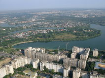 Bucharest from above Royalty Free Stock Image