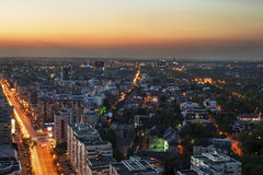 Bucharest from above Stock Photo