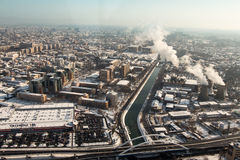 Bucharest - aerial view Stock Images