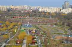 Bucharest aerial view from the park brancoveanu Stock Photos