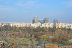 Bucharest aerial view from the park brancoveanu Stock Image