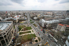 Bucharest - aerial view Royalty Free Stock Image