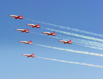 Bucharest air show - Turkish Stars special guests Royalty Free Stock Photo