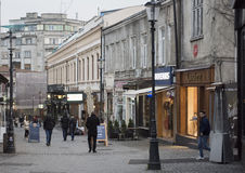 Bucharest-alte Stadt Lizenzfreies Stockbild