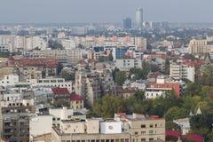 Bucharest - antennen beskådar Royaltyfria Bilder